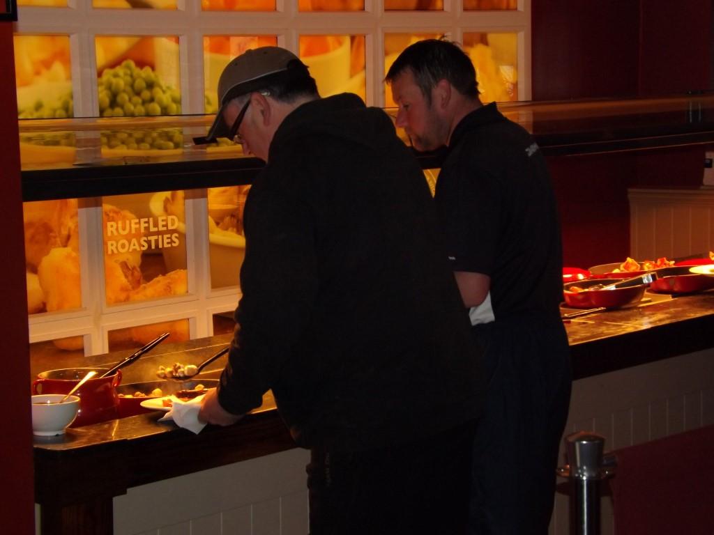 Paul Platt at the breafast bar in the  Waterside.JPG
